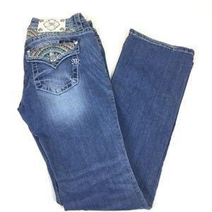 Miss Me Jean Sz 29  Aztec Flap Pocket